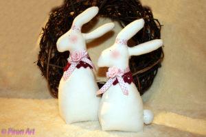 Hasenpärchen Ostern Piron-Art Geschenk