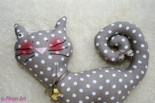 Katze grau-braun Dekoration Piron-Art