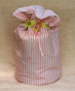 Pompadour rosa weiß Tasche Piron-Art