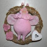 Türkranz Käfer rosa Dekoration Piron-Art