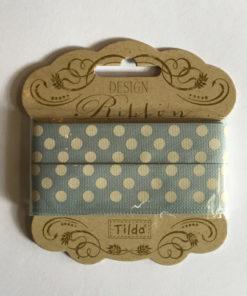 Tilda Band Serie Tiny Treasures grau-blau Piron-Art